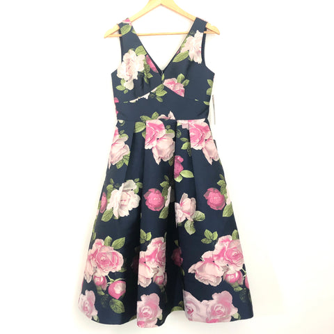 Eliza J Rose Print A-line Dress NWT - Size 2