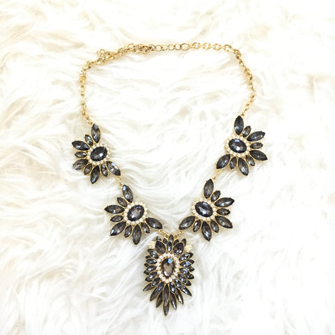 No Brand Gold and Dark Grey Jewel Necklace