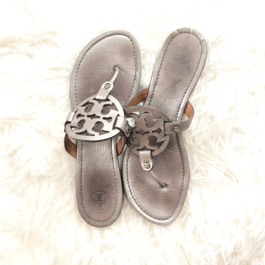 0e3cbae7a Tory Burch Miller Sandals- Size ~10 – The Saved Collection