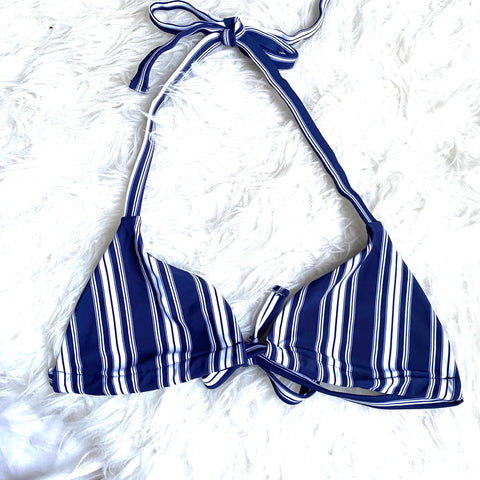 Show Me Your Mumu Navy Striped Bikini Bralete Top- Size S (TOP ONLY)