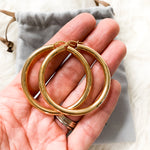 Rudiment Thick Gold Hoop Earrings