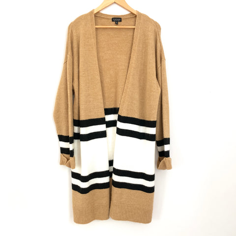 TopShop Tan, Black and White Cardigan - Size 2