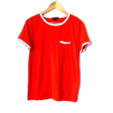 J Crew Orange Front Pocket Tee- Size S