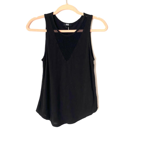 Paige Black Mesh V Neck Top- Size XS ( Jana, see notes)