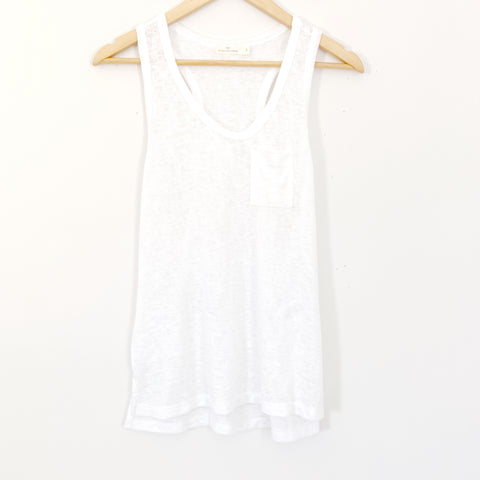 Michelle by Comune White Thin Pocket Tank- Size S