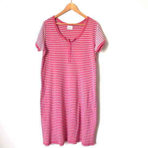 Hanna Andersson Pink Striped Dress- Size L