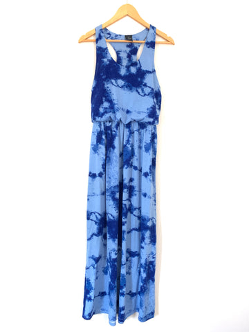 Faded Glory Blue Tie Dye Maxi Dress- Size S