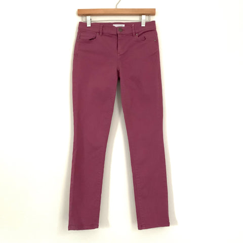"Ann Taylor Loft Made and Loved Magenta Skinny Crop Jeans- Size 0 (Inseam 27"")"