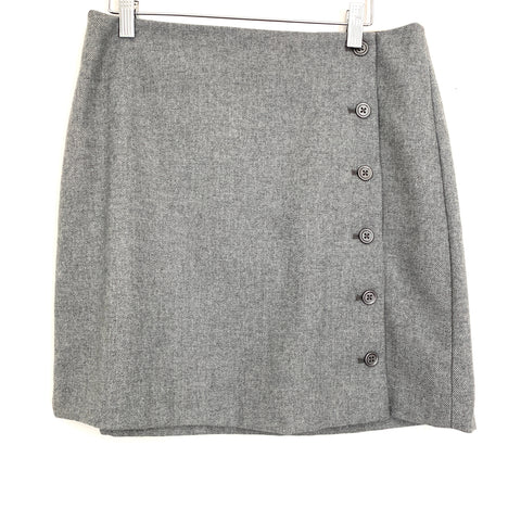 Banana Republic Grey Side Button Up Skirt NWT- Size 6