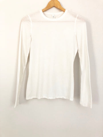 Lululemon Stretch Long Sleeve White Top- Size 4