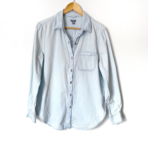 Aerie Chambray Button Down Top- Size XS