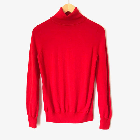 J.Crew Red Turtleneck Thin Sweater- Size S