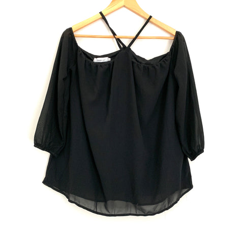 Vemvan Black Triangle Off the Shoulder Blouse NWT- Size S