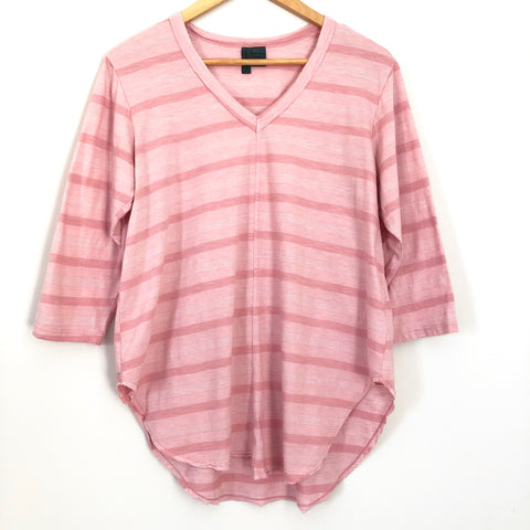 Left of Center Pink Stripe Tunic - Size S