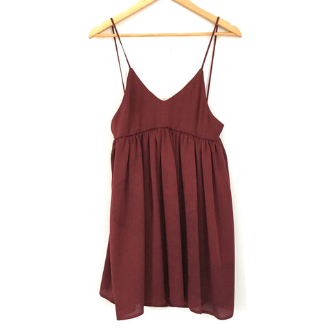 Imperial Burgundy Spaghetti Strap Dress- Size XS