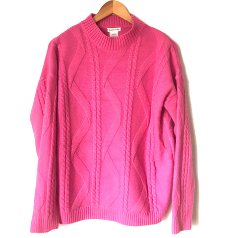 Main Strip Hot Pink Knit Sweater-Size M