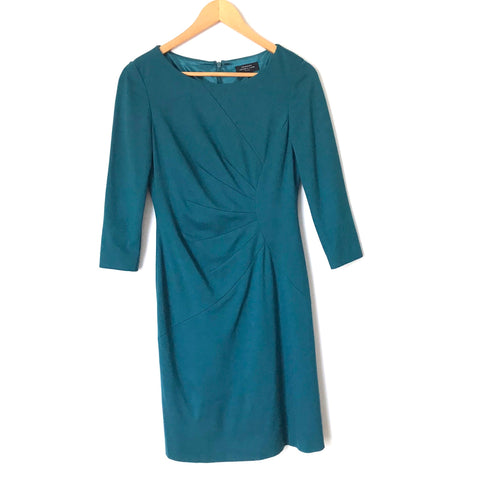 Tahari Teal 3/4 Sleeve Dress- Size 2P