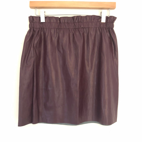 LOFT Brown Faux Leather Skirt NWT- Size XS