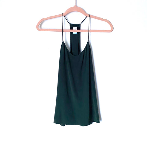 Tibi Forest Green Racerback Top- Size 0 (Jana)