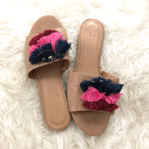A New Day PomPom Slip On Sandal- Size 10
