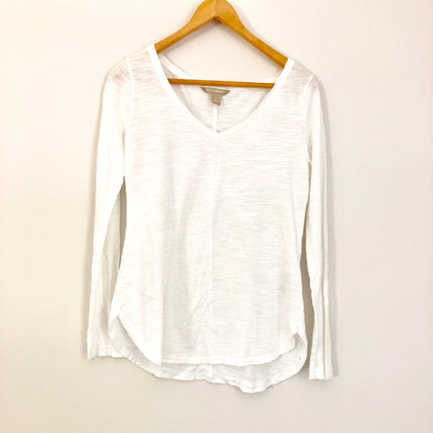 Banana Republic White Long Sleeve Top- Size S