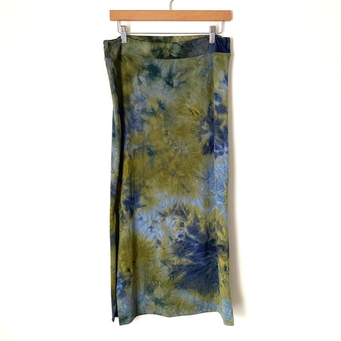 Sundry For Evereve Olive Tie Dye Maxi Skirt NWT- Size 4 (Fits like a 27)