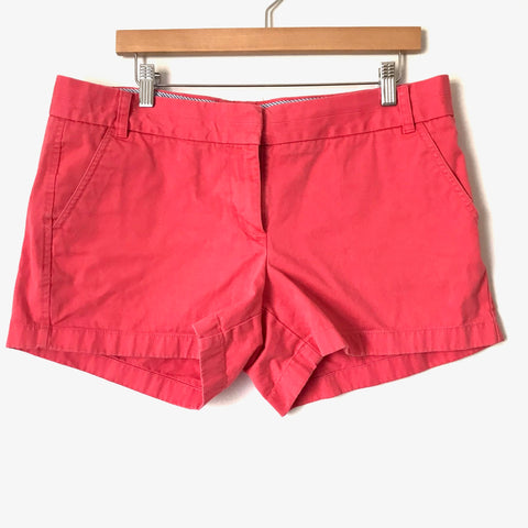 J. Crew Coral Chino Shorts- Size 12