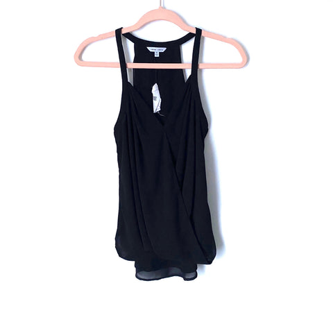 Naked Zebra Black Draped Racerback Tank Top NWT- Size S (Jana)