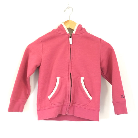 Girl's Youth Lands' End Kids Pink Hooded Jacket- Size M (5-6)