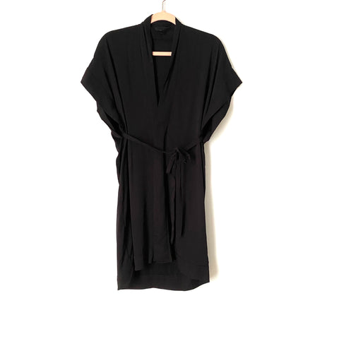 Vici Black Button Up Belted Shirt Dress- Size S