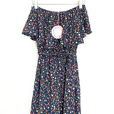 Umgee Navy Strapless Floral Jumpsuit NWT- Size S