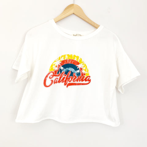 Peach Love California Cropped Tee- Size S