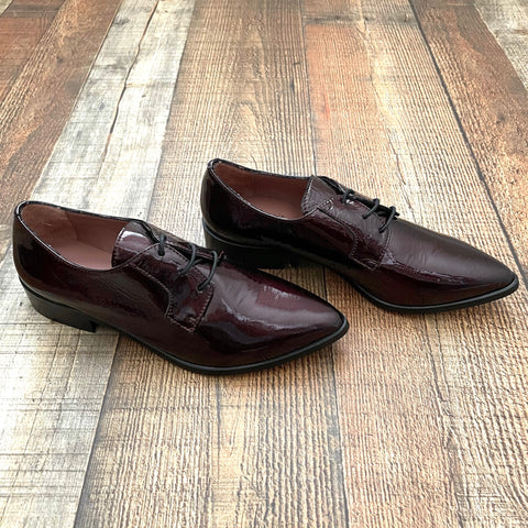 Summit By White Mountain Maroon Shiny Oxford Shoes - Size 36 (US 5.5/6)