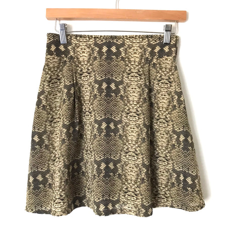 Marc By Marc Jacobs Snakeskin Silk Skirt- Size 0