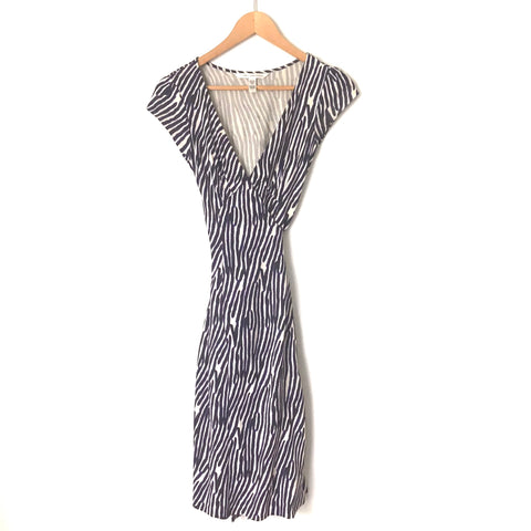 Diane Von Furstenburg Zebra Print Wrap Dress- Size 2