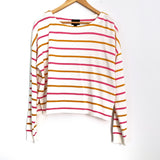 Lumière Pink and Mustard Striped Sweater- Size S