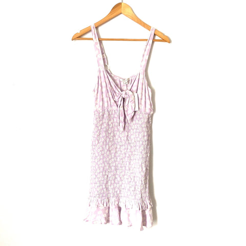 American Eagle Purple Floral Smocked Body Dress NWT- Size S