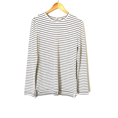 Lou & Grey Striped Long Sleeve Top- Size L