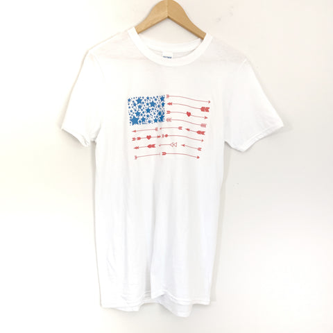 No Brand American Flag Tee- Size S