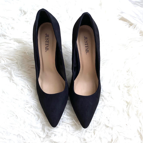 JustFab Black Close Toe Heels- Size 7 (Jana, see notes)