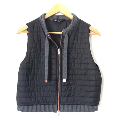 Athleta Puff Vest with Wool Trim- Size XS