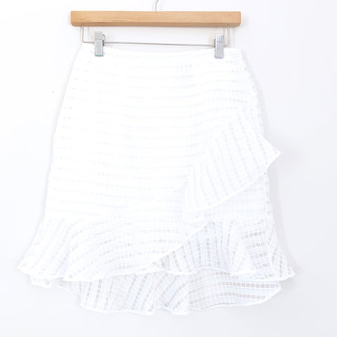 A New Day White Ruffle Skirt NWT- Size 2