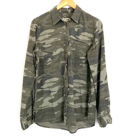 Express Camo Boyfriend Button Up Top- Size S