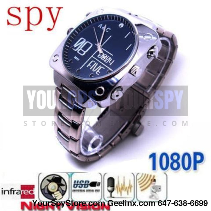 Watch Camera 1080P Hidden High Definition 32Gb Memory Night Vision