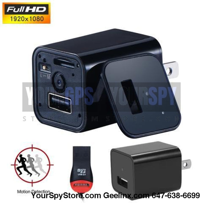 1080P Hd Spy Hidden Charger Nanny Camera Motion/loop Recording (32Gb Support)