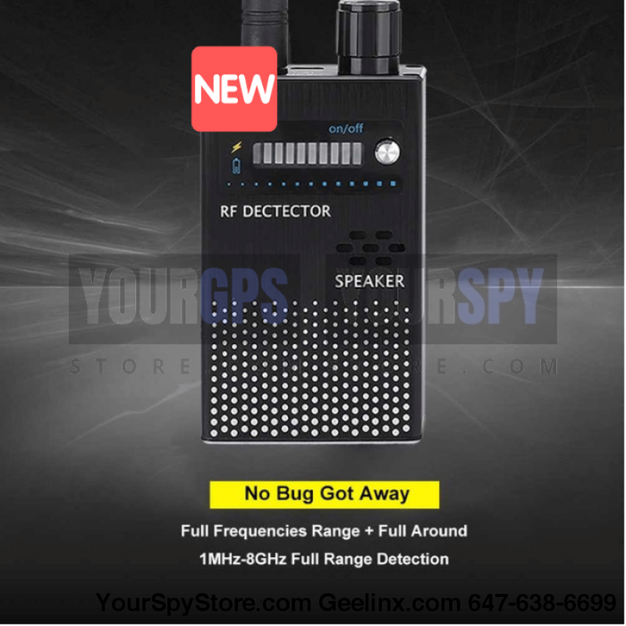 NEW 1MHz-8GHz Multi-functional Detector Anti-Spy Anti-Monitor, Anti-Tracker