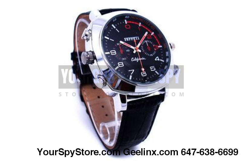 32Gb Spy Watch Camera 1080P Hd Ir Night Vision Water Splash Resistant