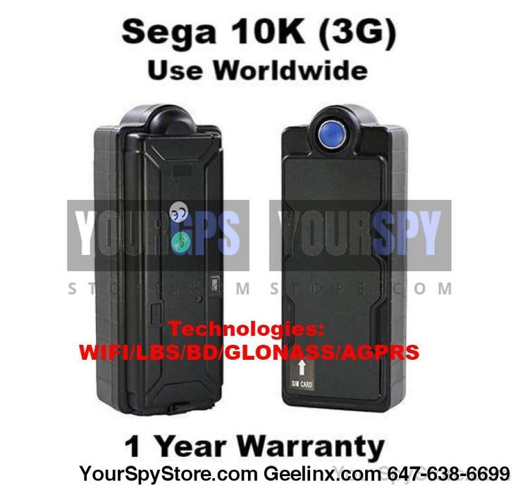GPS Tracker - New SEGA 10K - 3G Magnetic Real Time GPS Tracker Car Truck Vehicle Tracking Device Worldwide Use Anti Theft Multi-Functional Built-in Battery & Antenna IPX7 Resistant Battery Life 30-800 Days