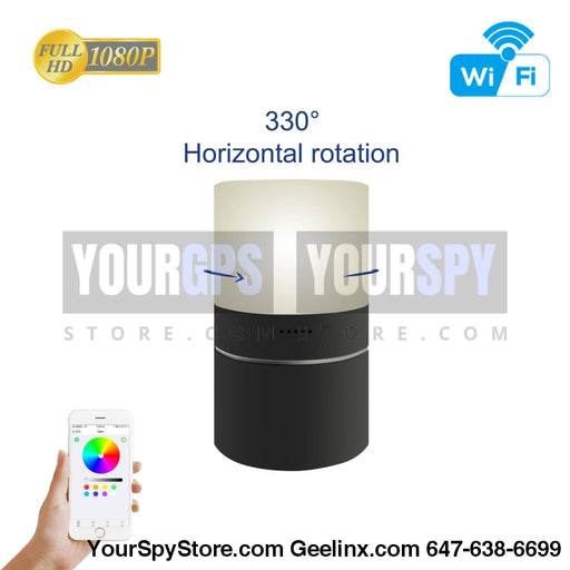 Hidden Camera - HD 1080P Wi-Fi Night Light Hidden Camera Motion 24/7 (128GB Support) 330 Degree Rotatable Lens