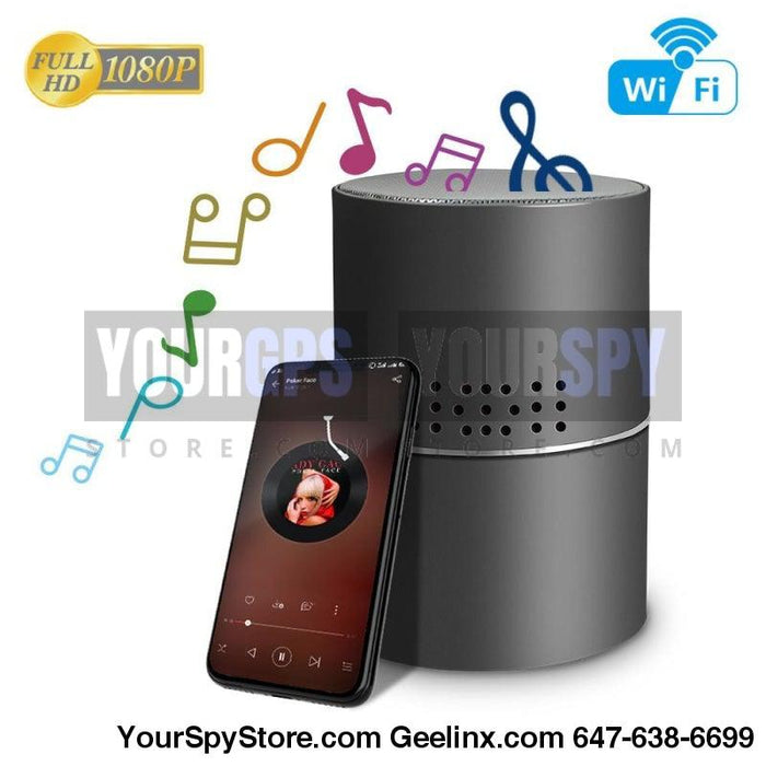 Hidden Camera - HD 1080P Wi-Fi Speaker Hidden Camera Motion 24/7 (128GB Support) 330 Degree Rotatable Lens